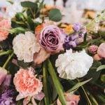 floral arrangement at an event